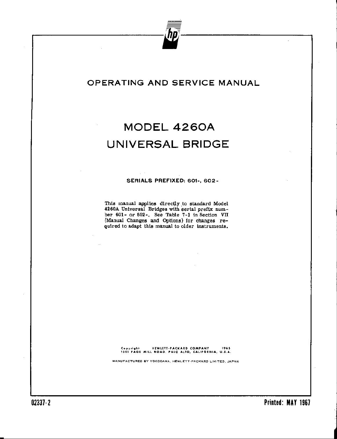 hp 4260a manual