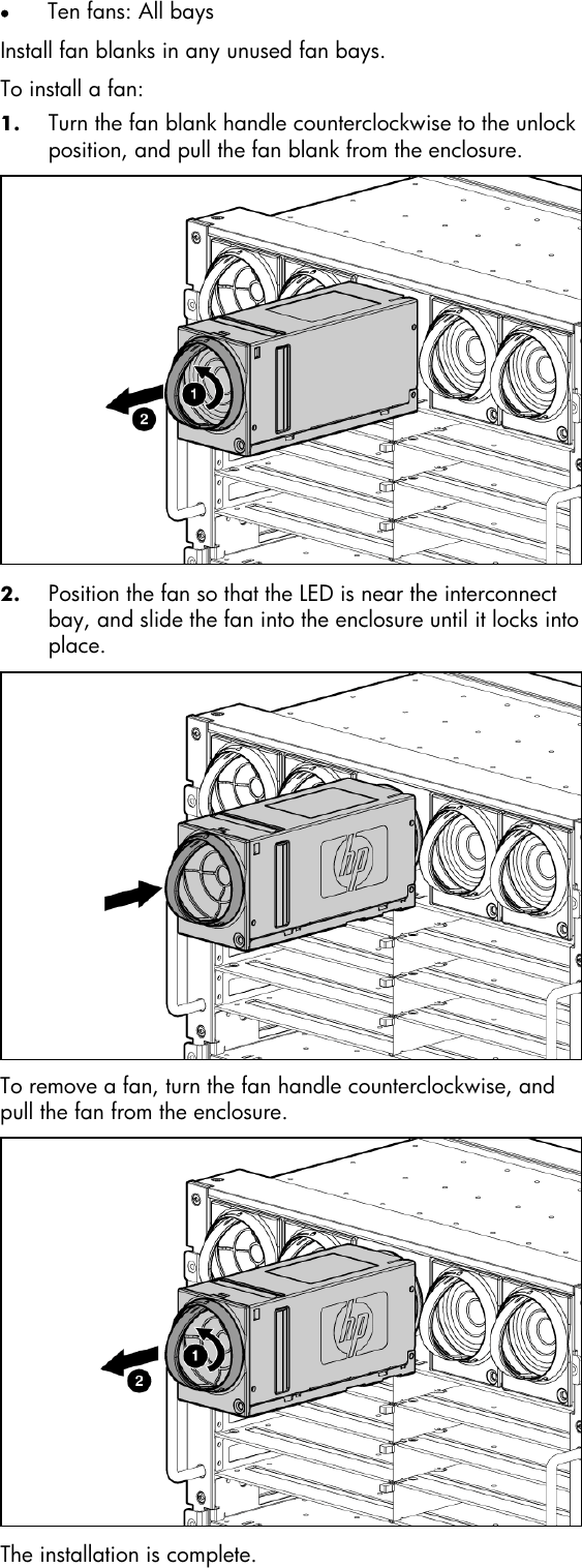 Hp Active Cool Fan C7000 Users Manual Installation Instructions