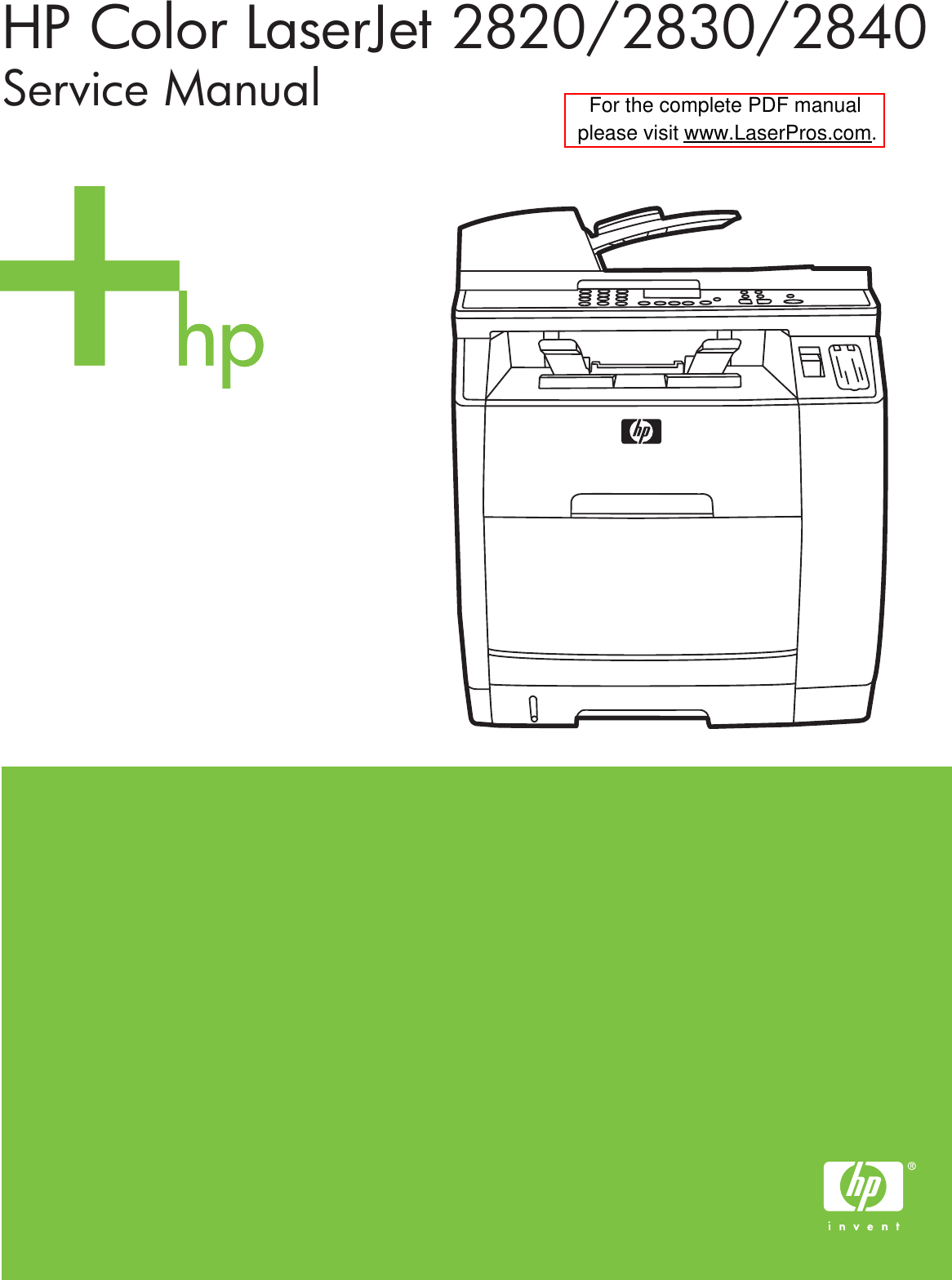 Page 1 of 12 - Hp Hp-Hp-Color-Laserjet-Printer-