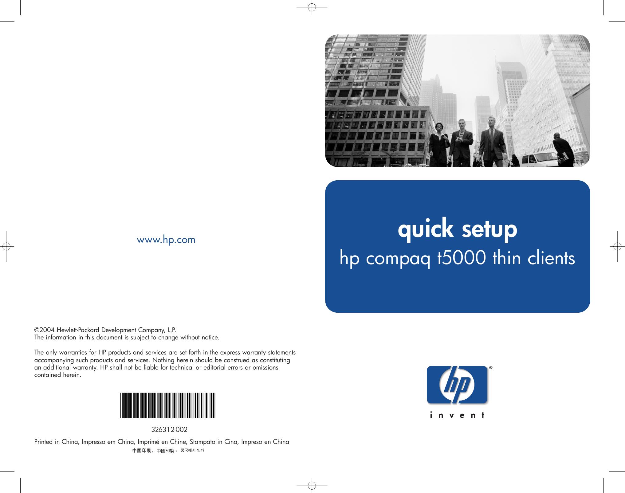 hp compaq thin clients t5000 users manual 326312 002 rh usermanual wiki HP T5000 Drivers HP Thin Client T5000 Manual