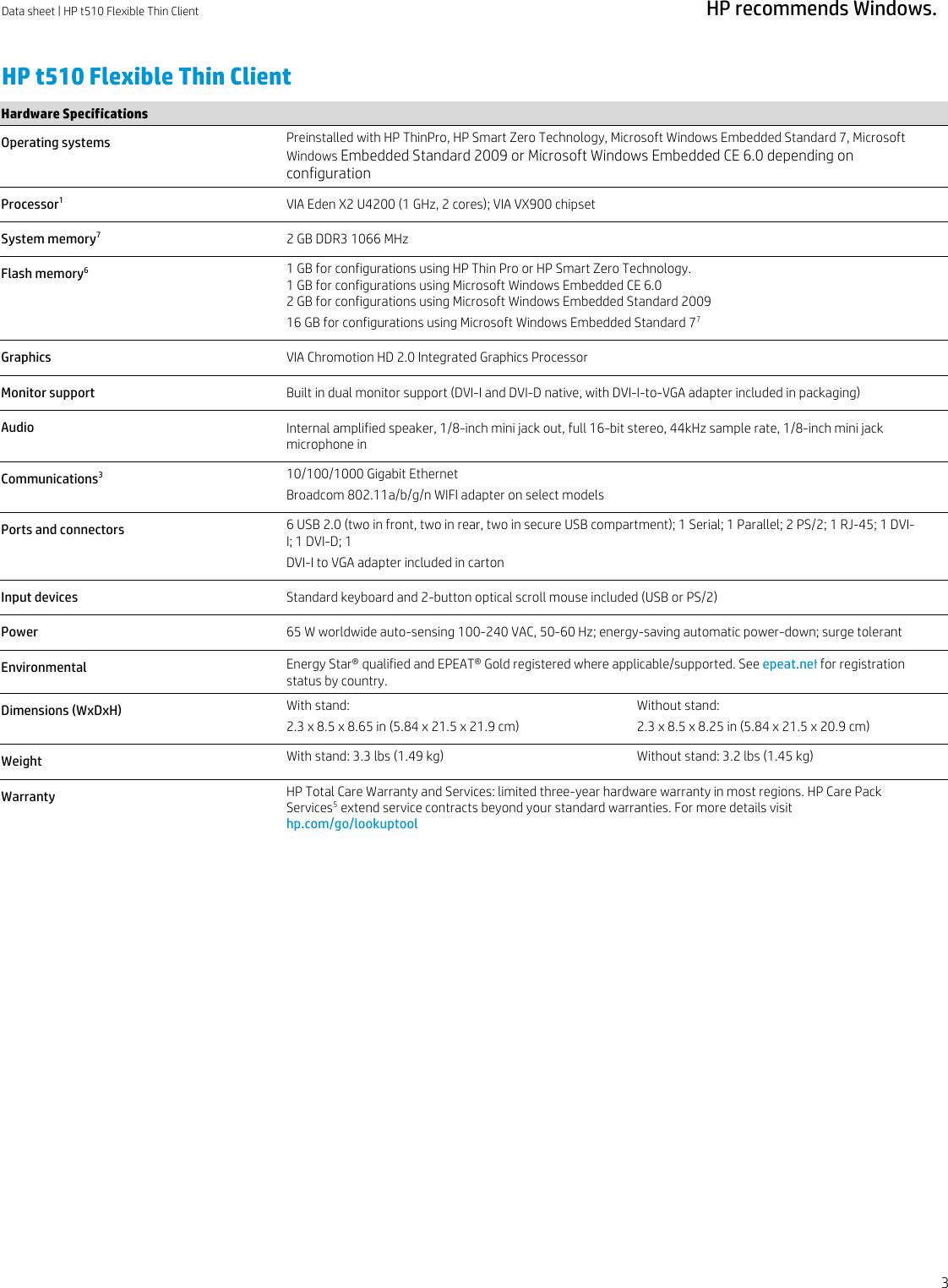 Hp E4S29At Thin Client E4S29Ataba Users Manual T510 Smart Zerox