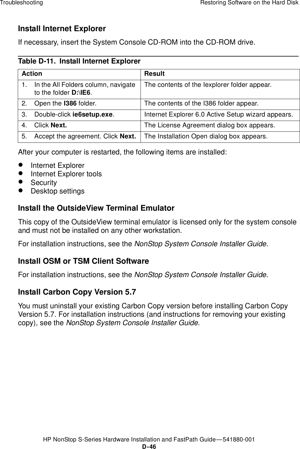 Hp Nonstop S Users Manual Series Hardware Installation And FastPath