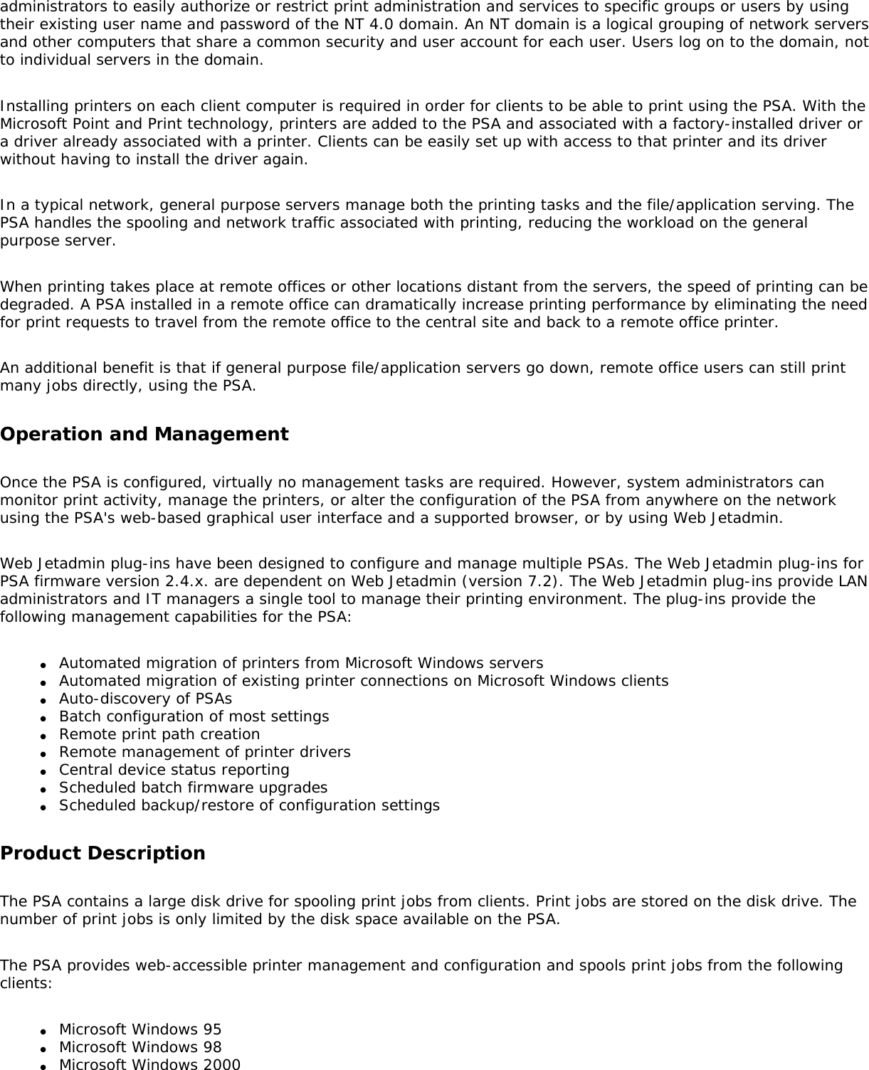 Hp Laserjet 4250 Users Manual Print Server Appliance 4200