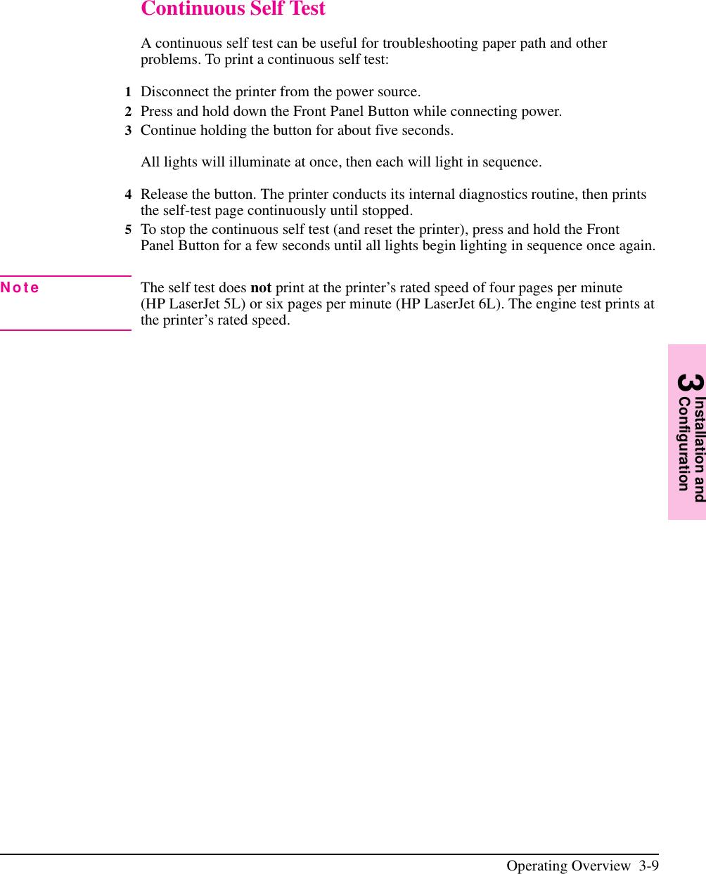 Hp Laserjet 5L Users Manual And 6L Printer Service Manual
