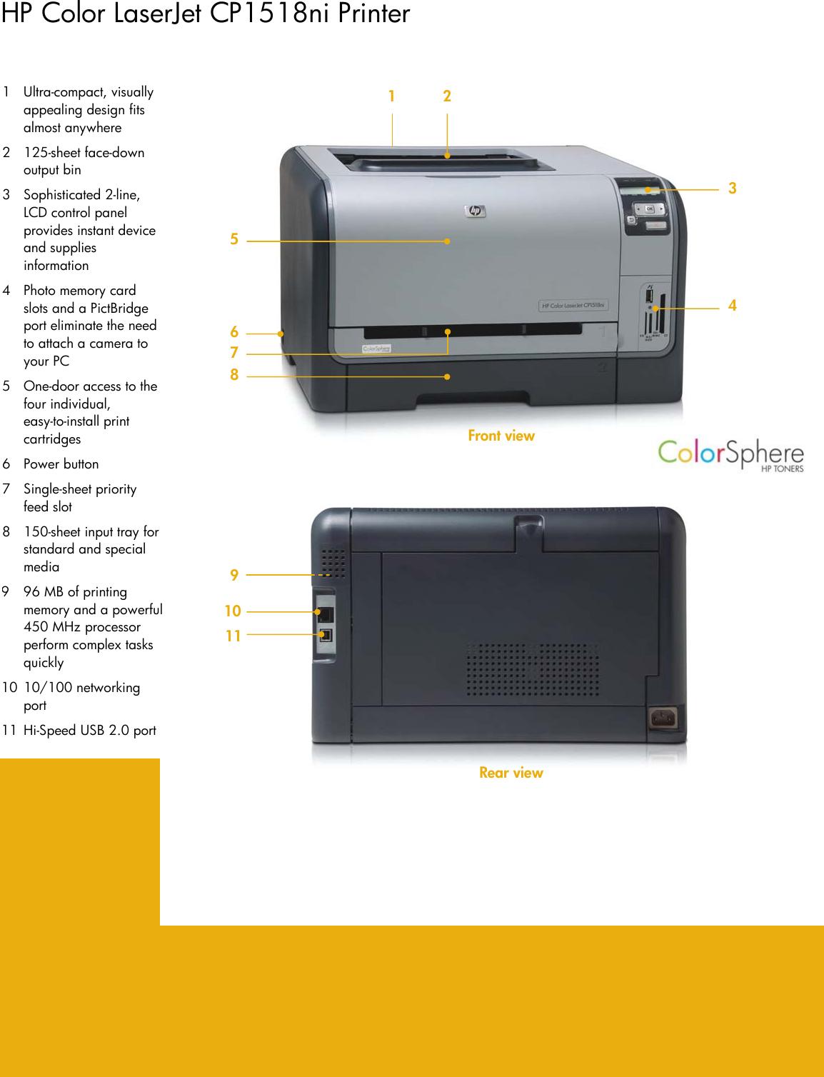 Page 2 of 4 - Hp Hp-Laserjet-Cp1518Ni-Users-Manual-