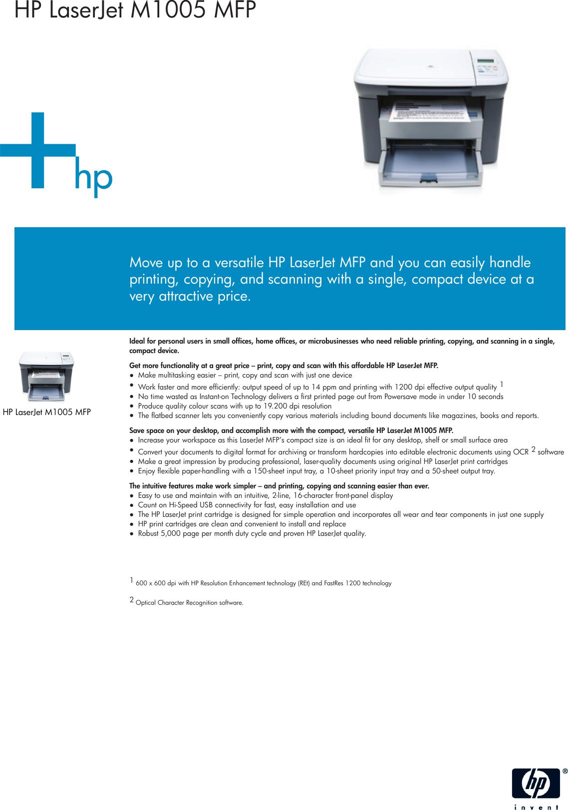 hp laserjet m1005 mfp user manual pdf