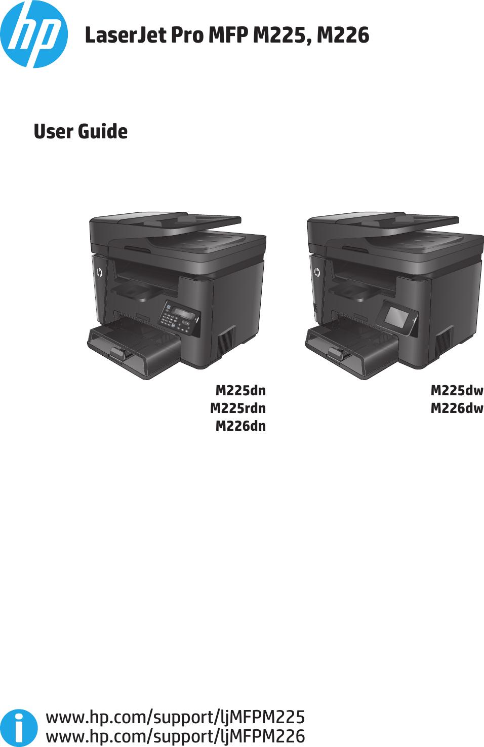 Hp Laserjet Pro Mfp M225Dn Users Manual M225, M226