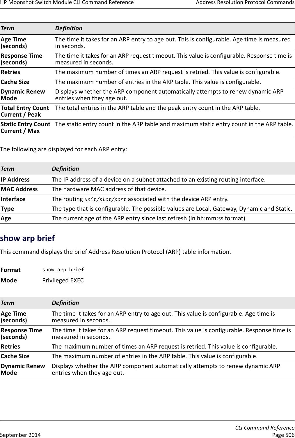 Hp Moonshot 45G Switch Module Command Reference Guide 45G