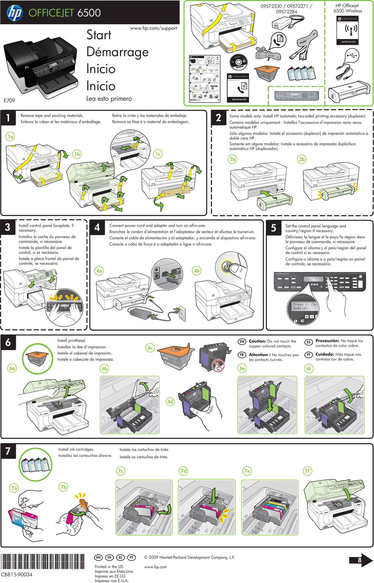 hp officejet 6500 all in one printer e709a setup poster e709 rh usermanual wiki HP 6500 All in One HP 6500A Plus Manual