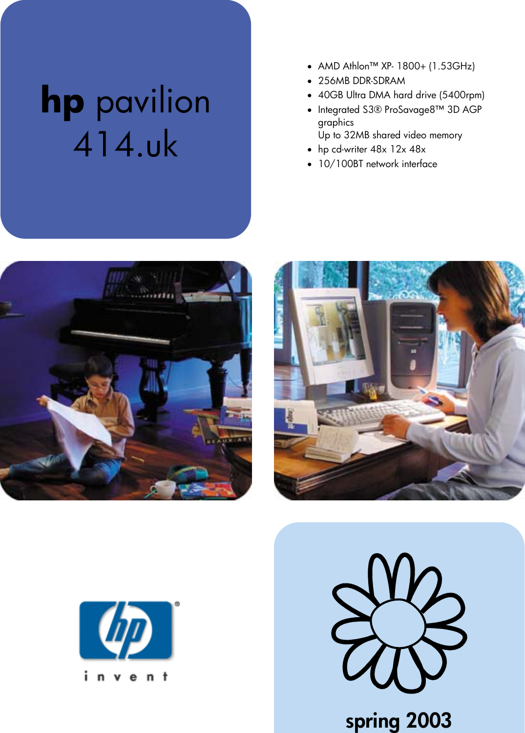 Hp Pavilion 414 Uk Users Manual 414 uk_ds_ene