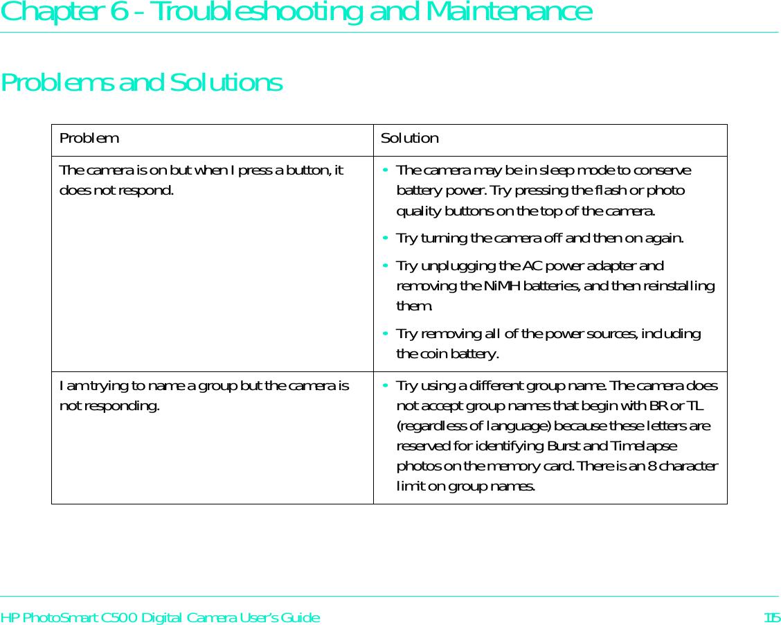 hp photosmart c500 c500xi digital camera troubleshooting and rh usermanual wiki Scion Maintenance Guides Housekeeping Building Guide