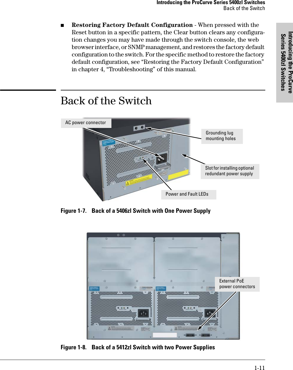 Hp Procurve 5400Zl Users Manual Series Switches Installation