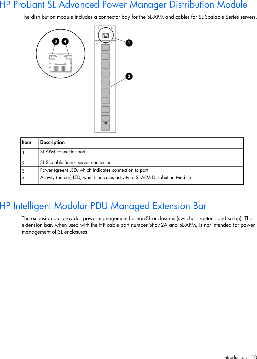 Hp Proliant Dl170E G6 Server Users Manual SL Advanced Power