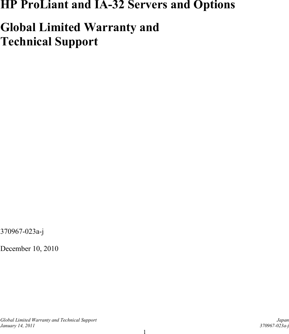 Hp proliant server warranty reference guide and ia 32 servers hp proliant server warranty reference guide and ia 32 servers options global limited technical support publicscrutiny Choice Image