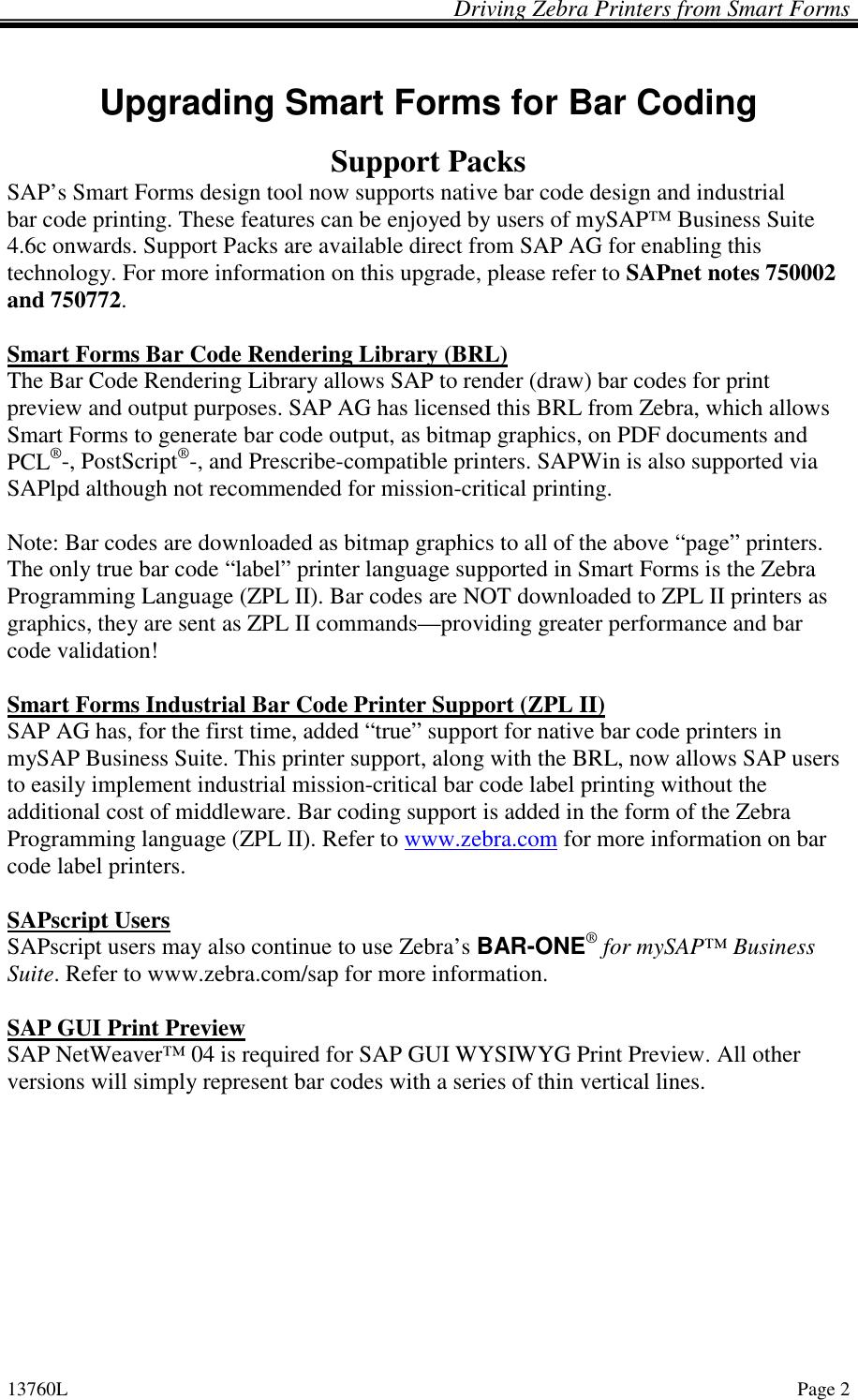 Zebra Zpl Support