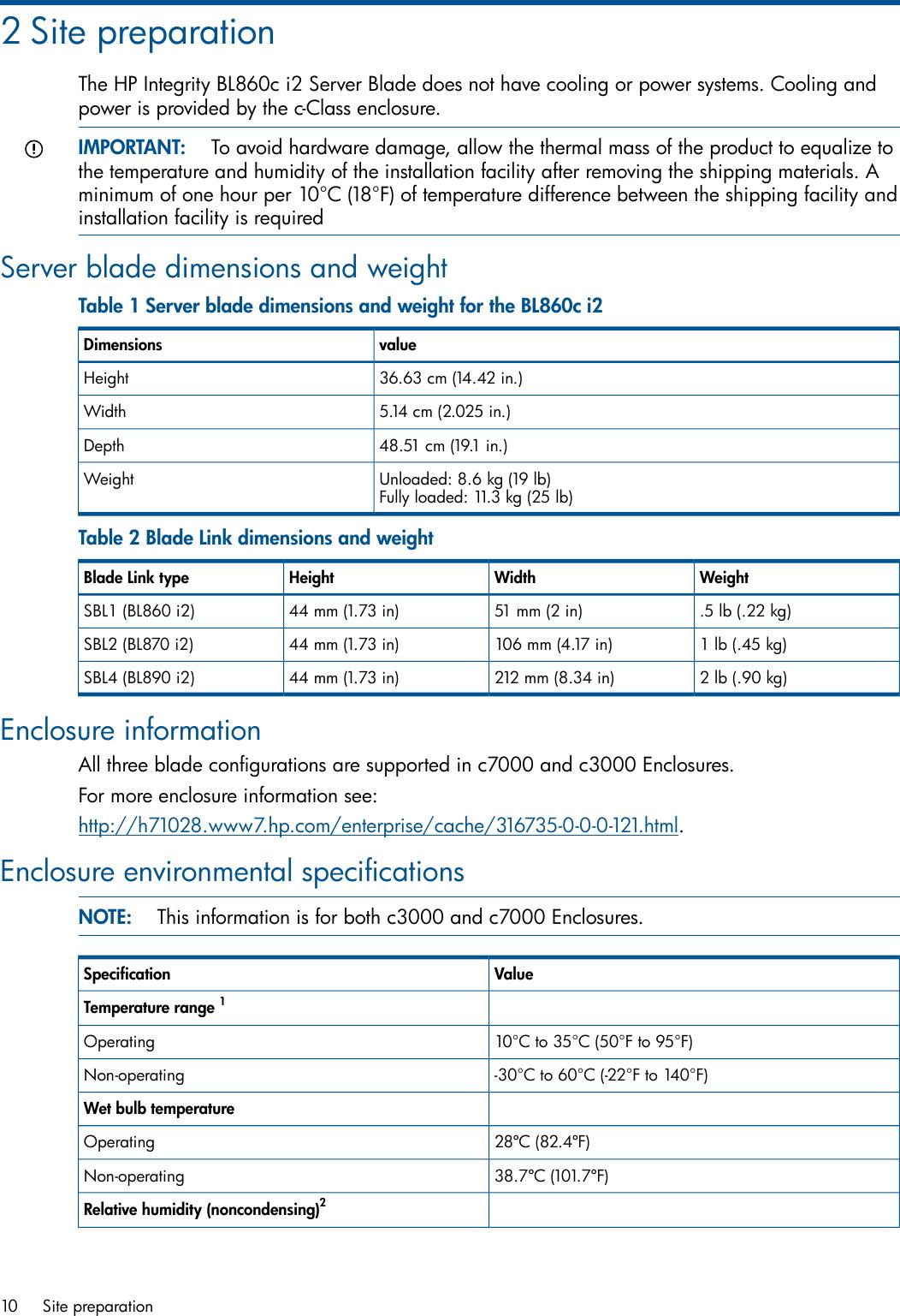 Hp Server Bl860C I2 Users Manual Integrity I2, BL870c