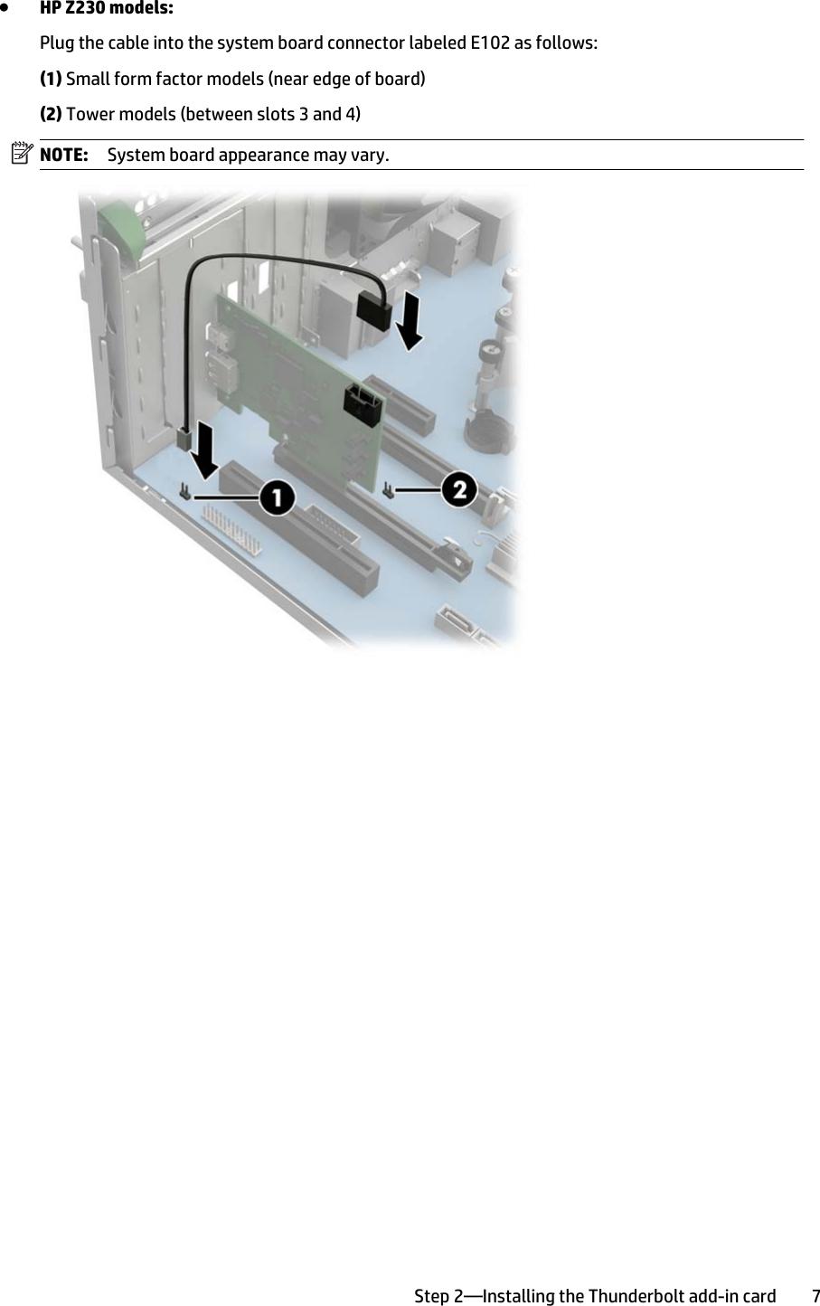 Hp Thunderbolt 2 Pcie 1 Port I O Card Setup And Install