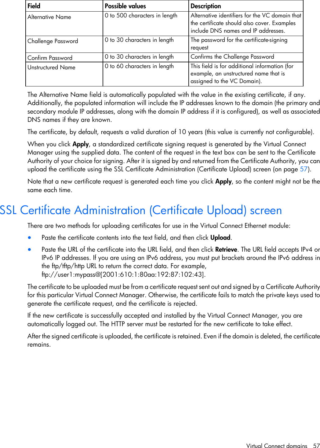 Hp Virtual Connect Firmware Users Manual For C Class BladeSystem