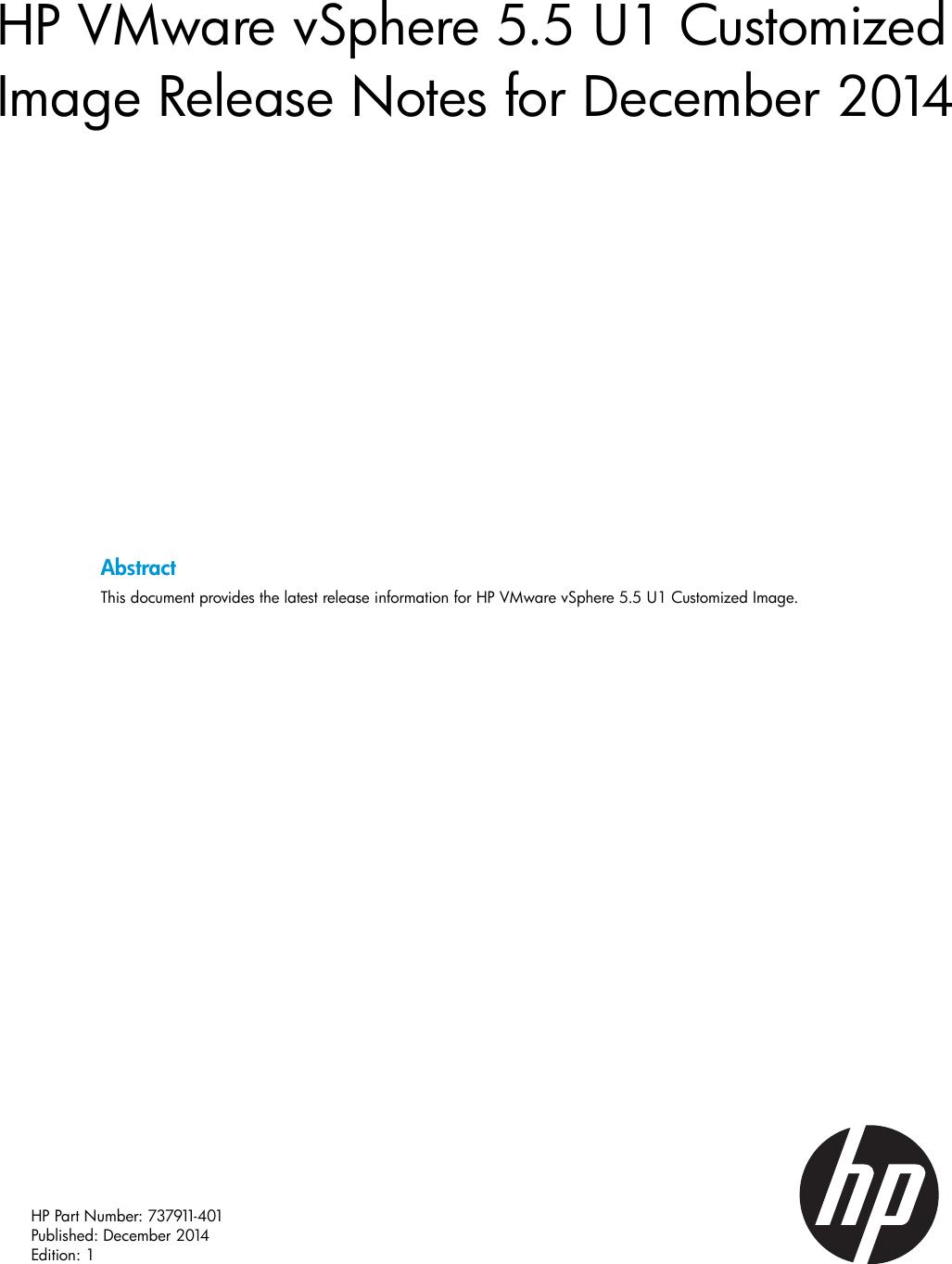 Hp Virtualization Getting Started Guide VMware VSphere 5 5 U1
