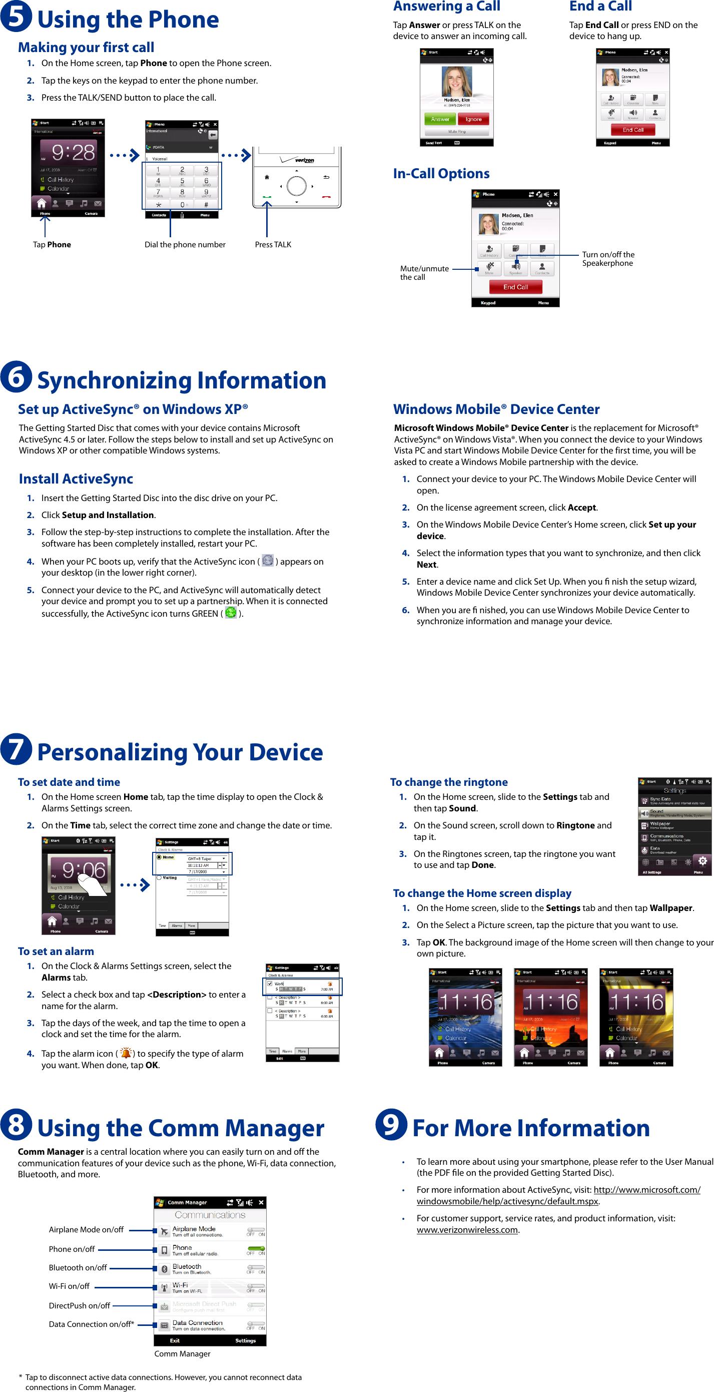 htc touch diamond user manual