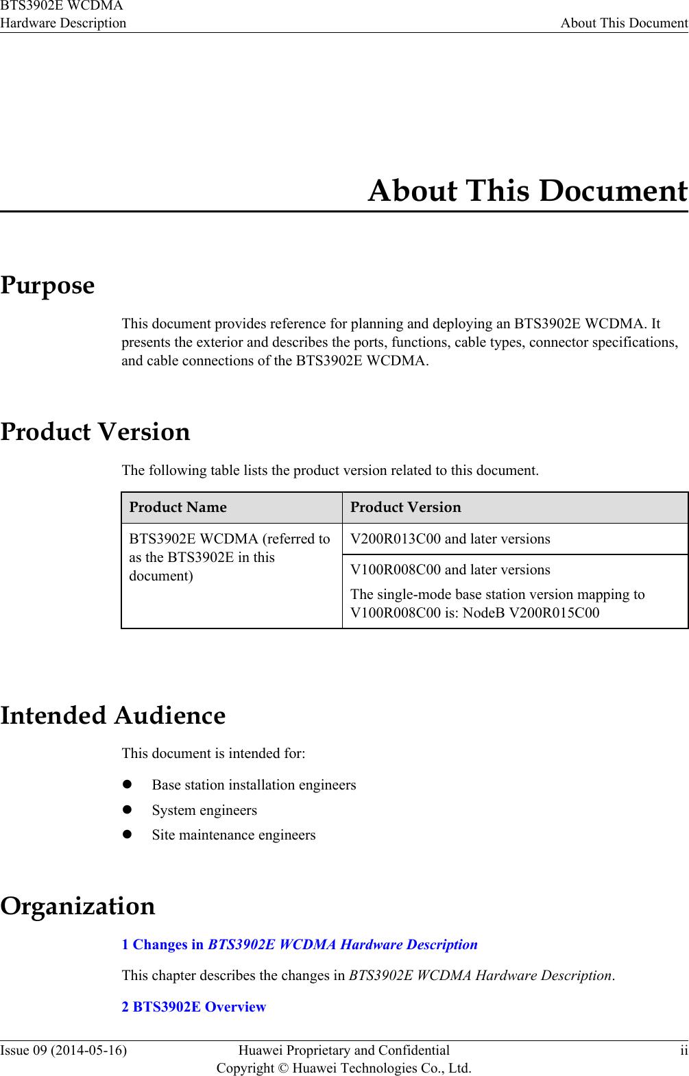Huawei Technologies BTS3902E-U850 Micro BTS User Manual Site