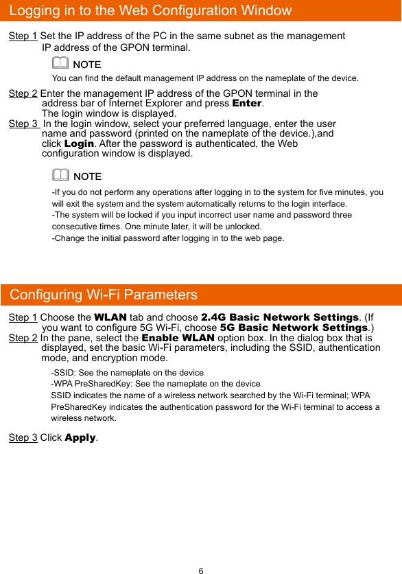 Huawei Technologies HG8245Q2 GPON Terminal User Manual