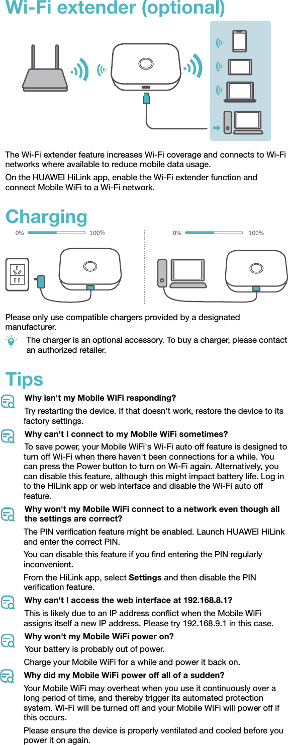Huawei 31010WCX _V100R001_01,en_ E5573Cs 609 Quick Start