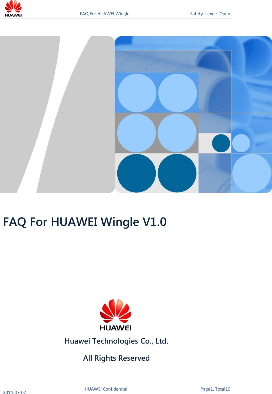 Huawei EC8372u 876 FAQ V1 0