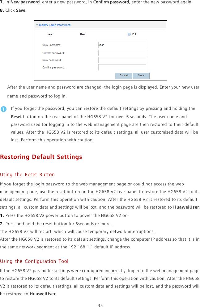 Huawei HUASWEI HG658 User Guide V2 01 English