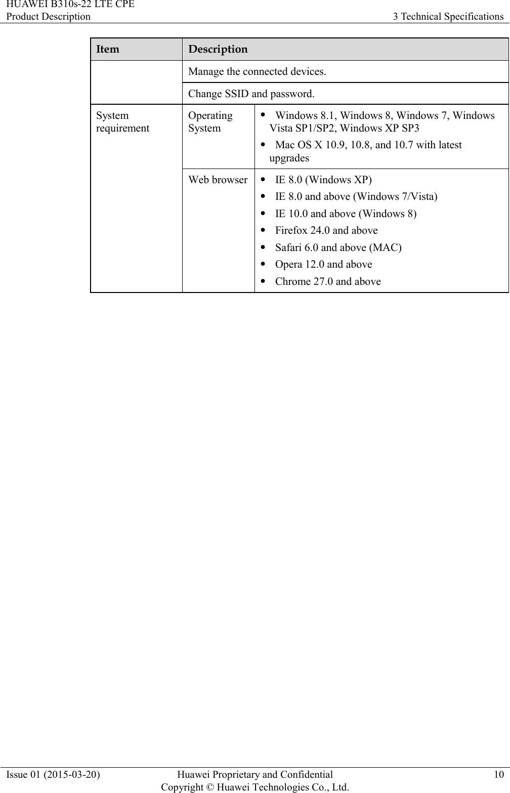 Huawei B310s 22 Product Description (V200R001 01,English)