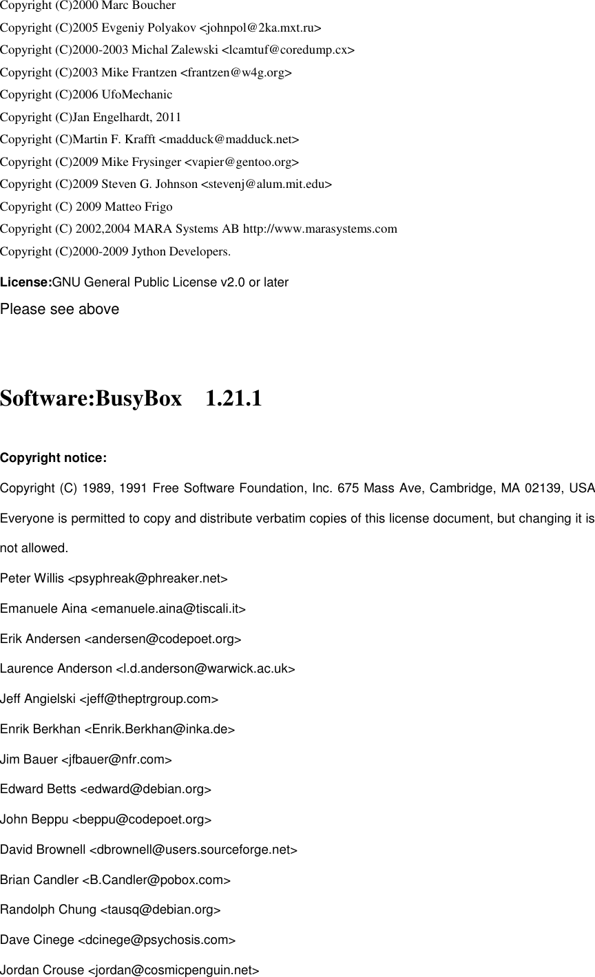 Huawei E3372s 153 Open Source Software Notice And Privacy Policy