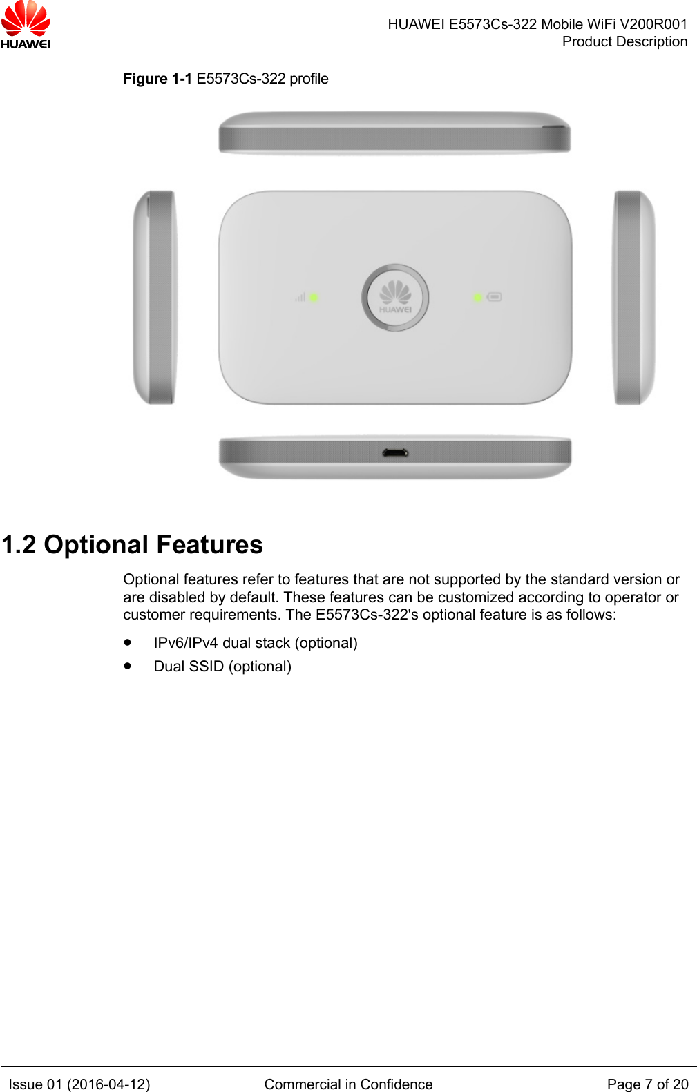Huawei E5573Cs 322 Mobile WiFi Product Description _V200R001_01,EN_