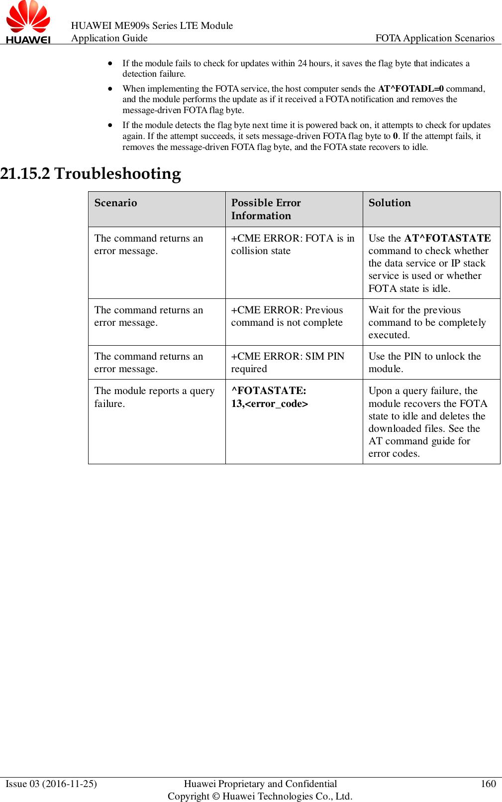 Huawei ME909s Series LTE Module Application Guide (V100R001 03, English)