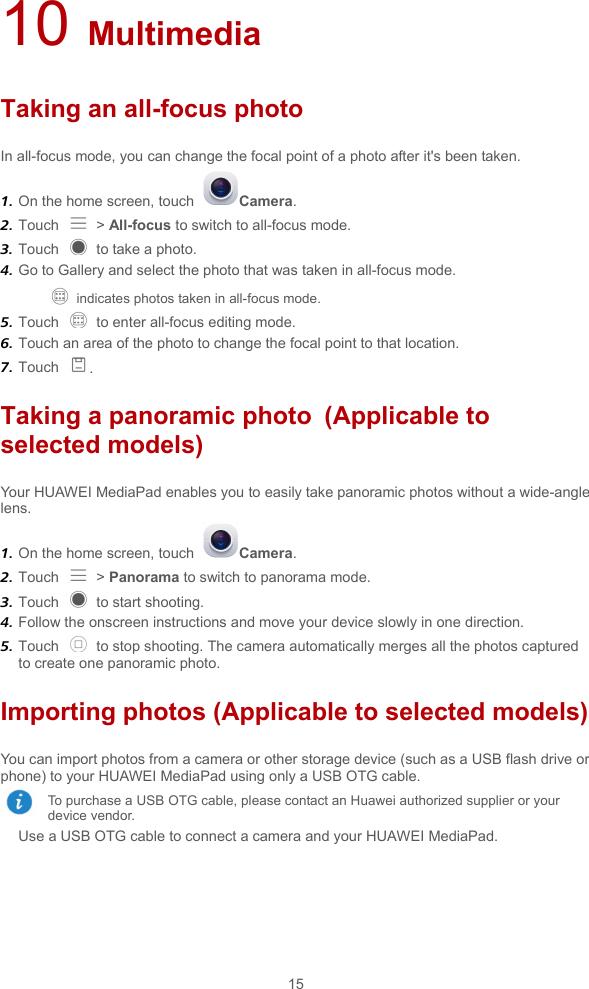 Huawei Media Pad M2 User Guide (M2 80xx,en,for Emotion 3 0 5