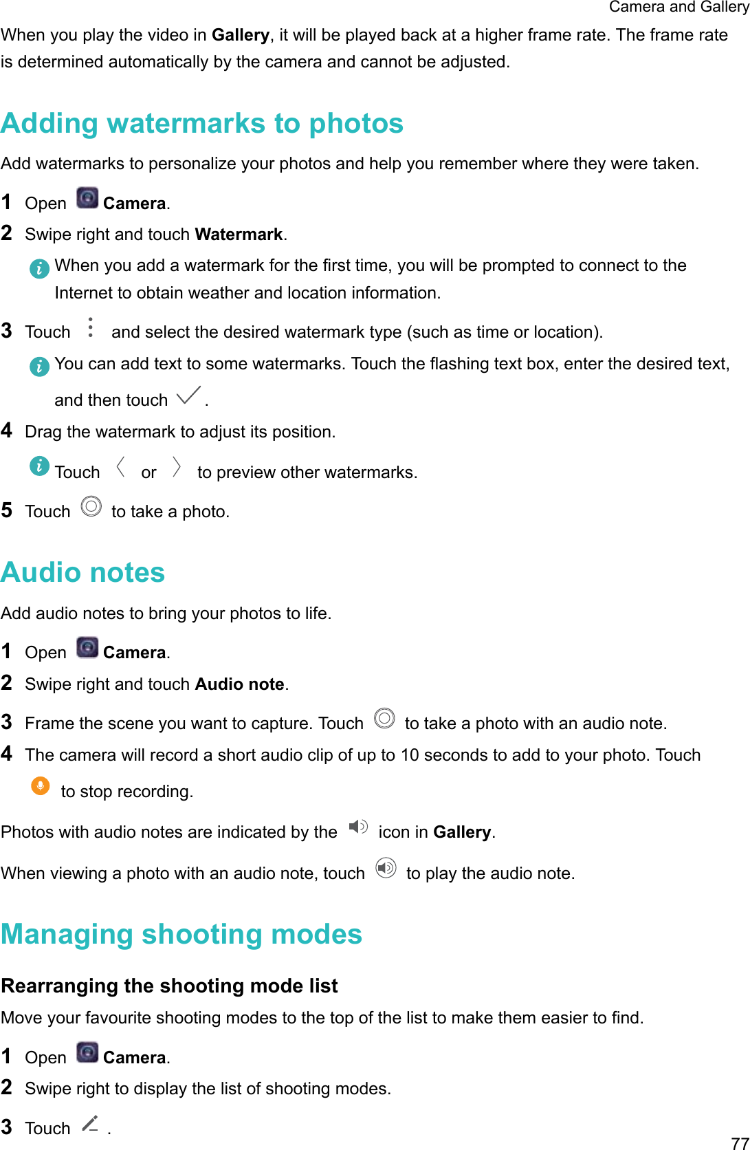 Huawei P10 User Guide (VTR L09, 01, IE)