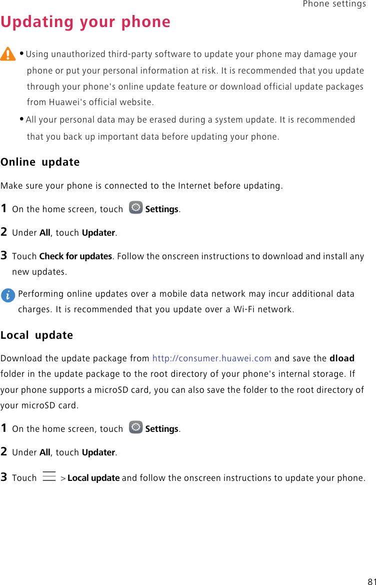 Huawei Shot X User Guide English ATH UL01&ATH UL06