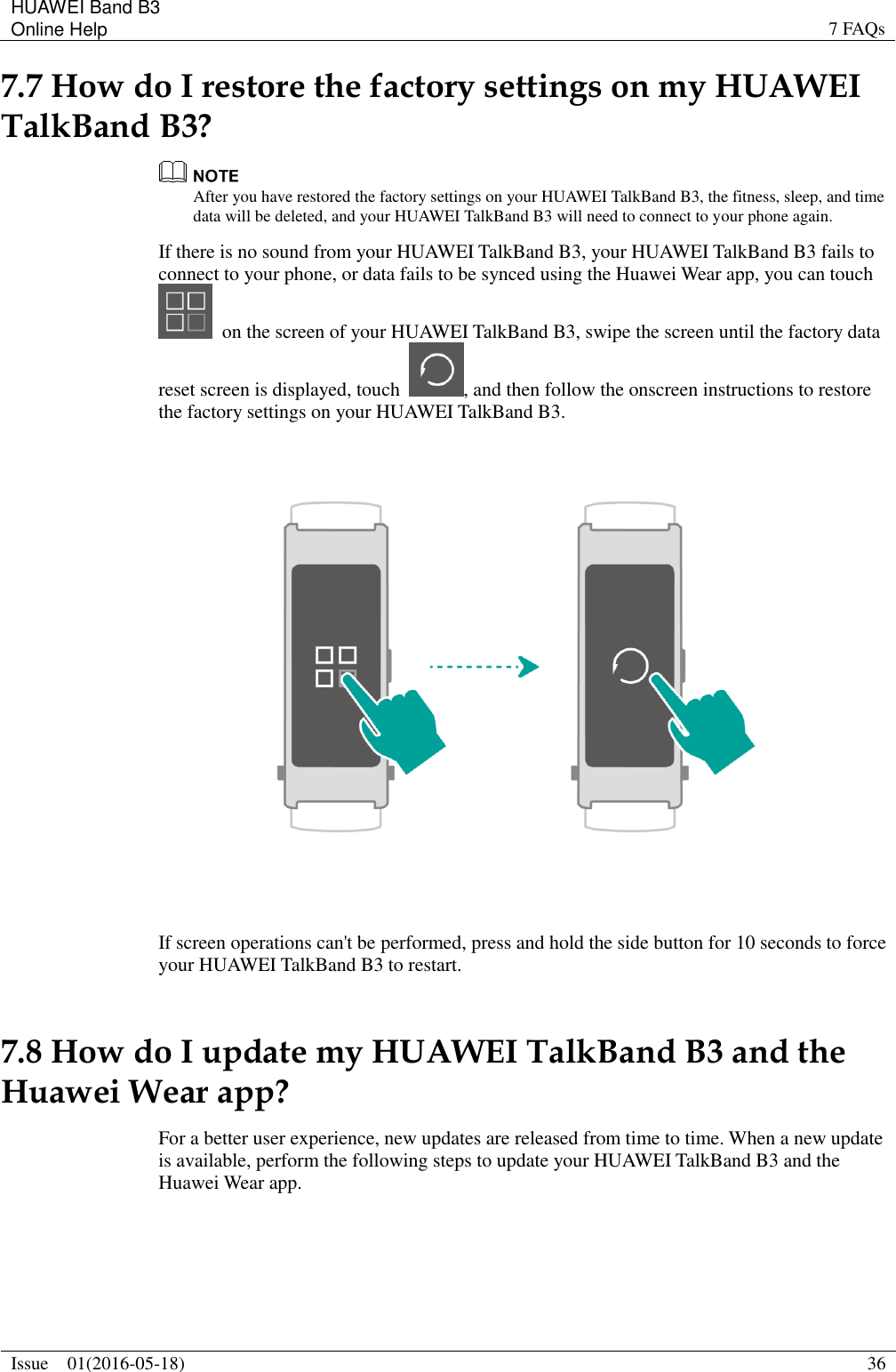 Huawei Talk Band B3 User Guide(Gemini, 01, English)