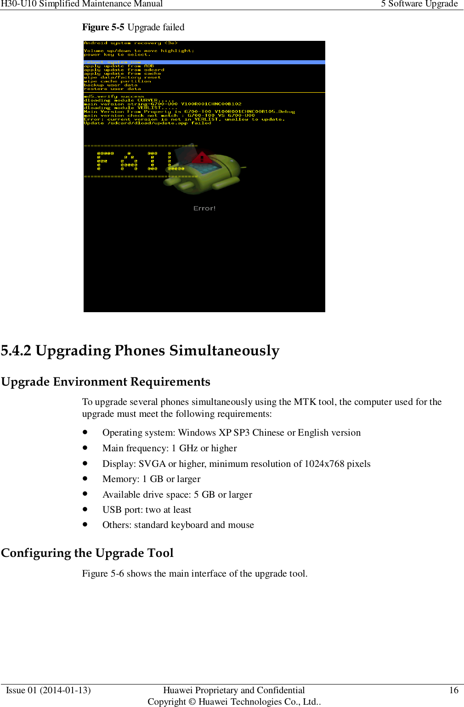 Huawei Honor 3C(H30 U10) Simplified Maintenance Manual V1 0