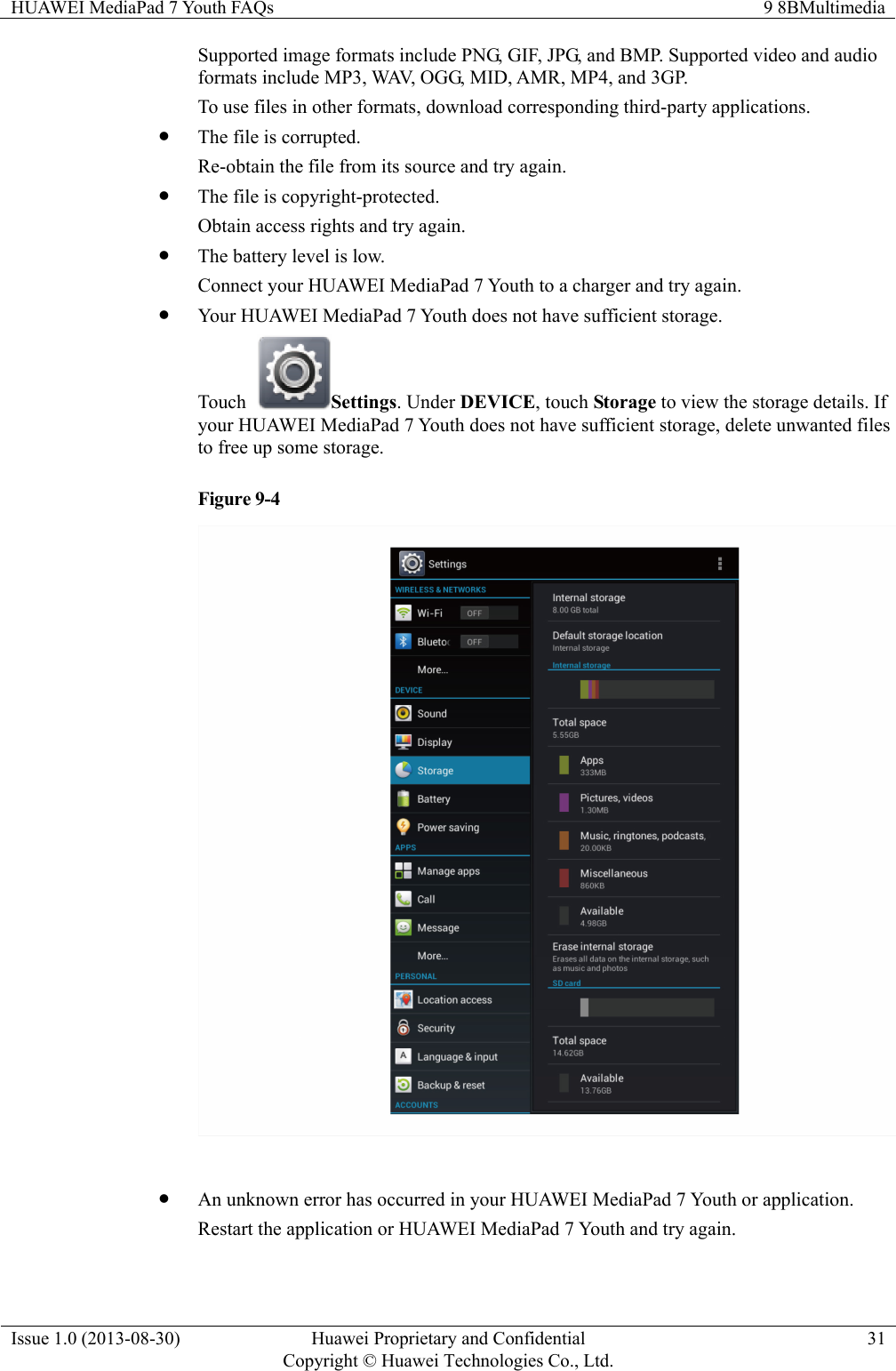 Huawei Media Pad 7 Youth FAQs(S7 701W, 01, EN)