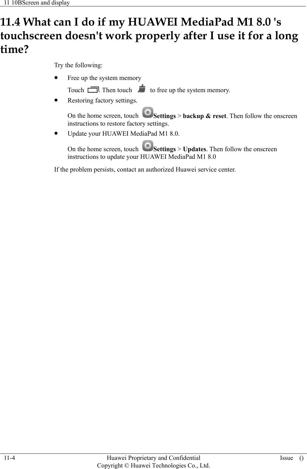 Huawei Media Pad M1 FAQs(S8 301U, 01, EN)