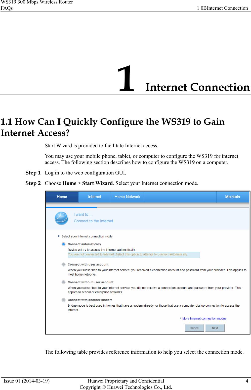 Huawei WS319 FAQs(WS319 10, 01, EN)