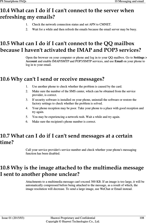 Huawei P8 Smartphone FAQs V1 4x V1 4