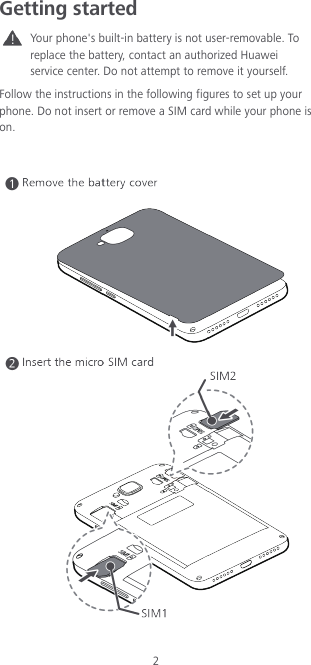 Huawei TIT AL00 QSG (C583 03,EN,Dual Card,India Flipkart