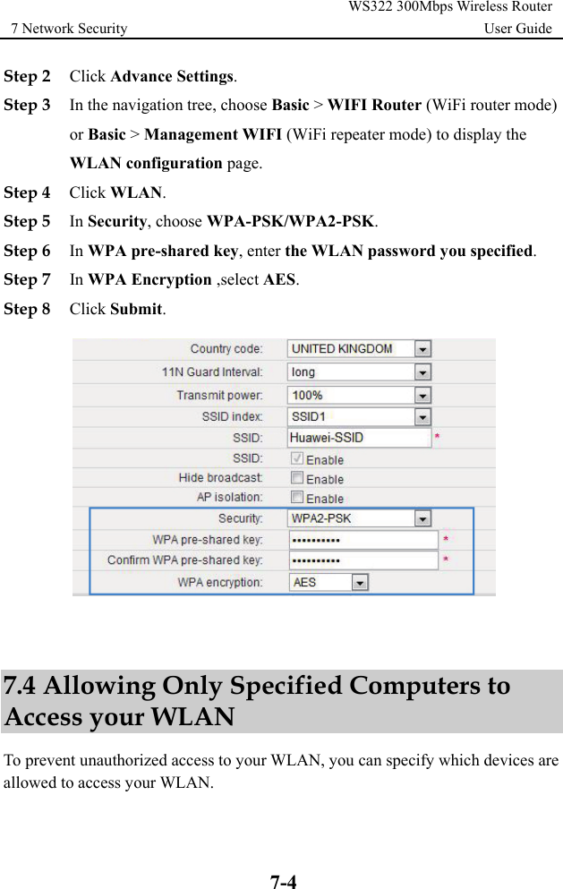 Huawei WS322 300Mbps Wireless Router User Guide 02 English