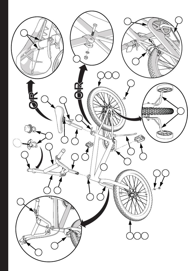 Huffybikes 12 20 Coaster Brake Bikes Owners Manual Hcoaster 12 20 En Xxxx13 M0015 Web