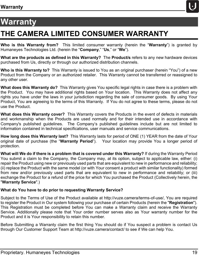 humaneyes technologies hetvz p vuze camera user manual. Black Bedroom Furniture Sets. Home Design Ideas