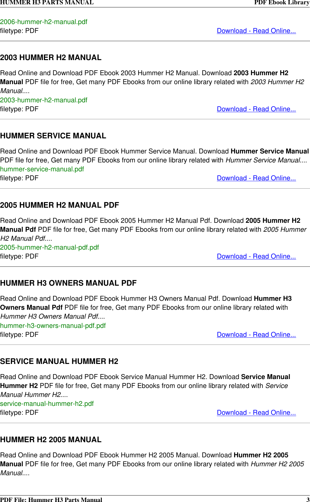 ... 2003 hummer h2 owners manual pdf 2004 hummer h2 manual Array - hummer  automobile parts h3 users manual rh usermanual wiki