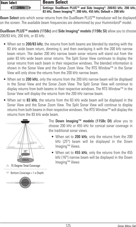 Humminbird Sonar Frequency