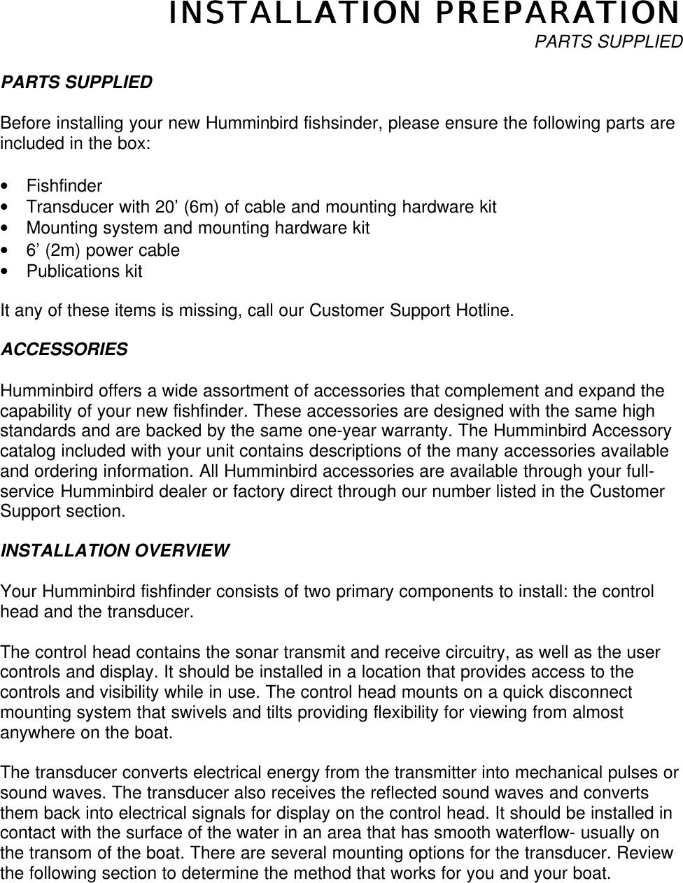 Humminbird 200Dx Users Manual 200dx1