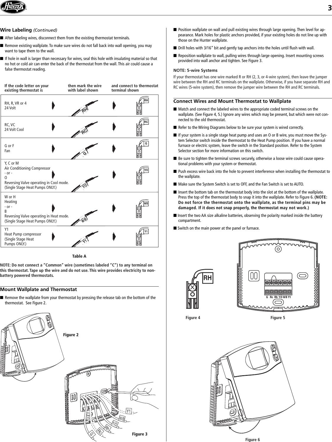 hunter thermostat 44760 wiring diagram wiring diagram